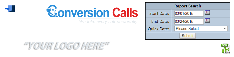 ConversionCalls Leads Report Header